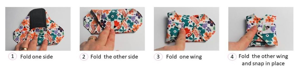 How to fold reusable sanitary pad
