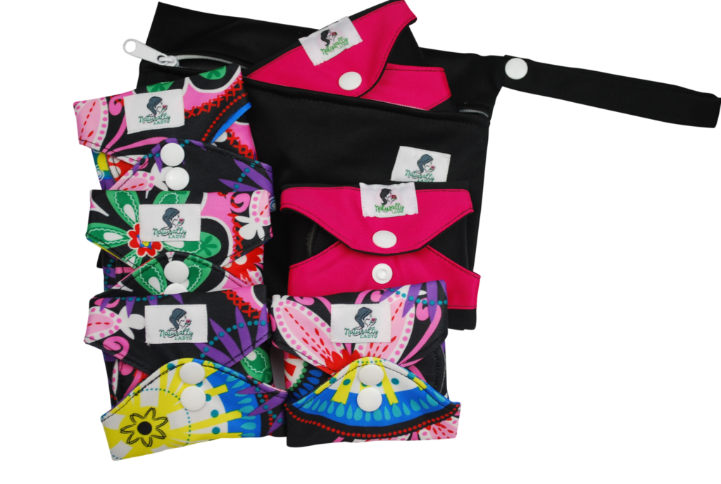 Black and Pink Reusable sanitary pads
