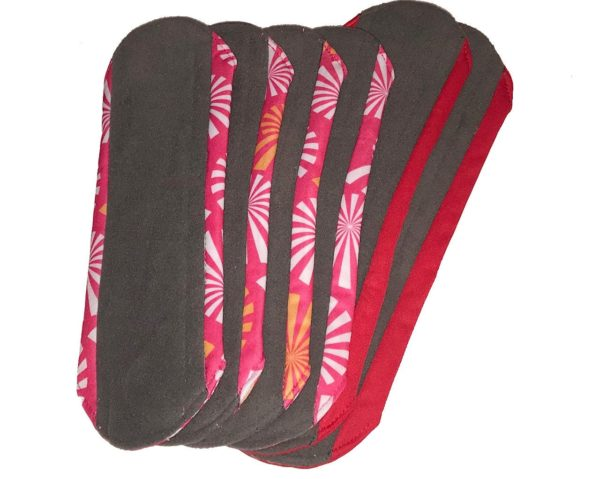 Reusable Sanitary Towels Red and pink kit