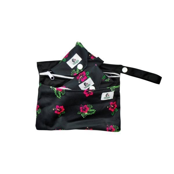 Naturally Lady Black and Flower print