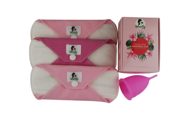 Menstrual Cup + 3 Panty Liners Kit
