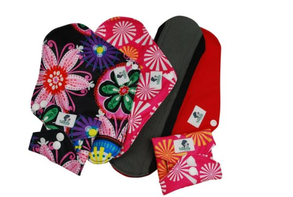 Reusable Sanitary Towels Coloured Kit