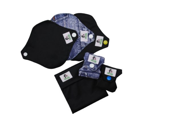 Black and Jeans Mini Pantyliner