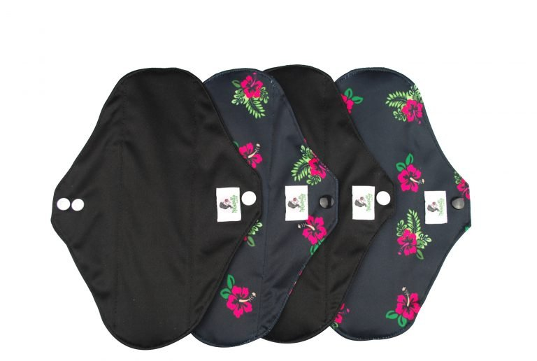 Black Reusable sanitary pad