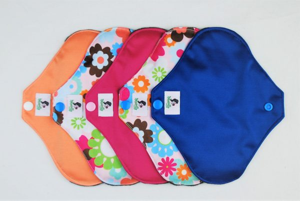 Colourfull 6pcs reusable sanitary pads