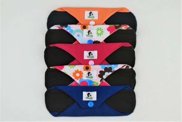 6pcs reusable sanitary towels many colours