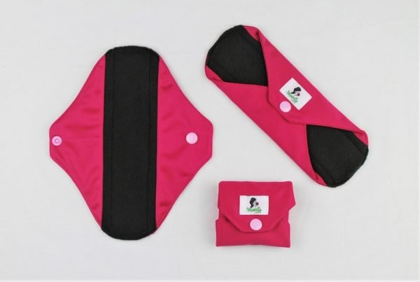 pink reusable sanitary towels