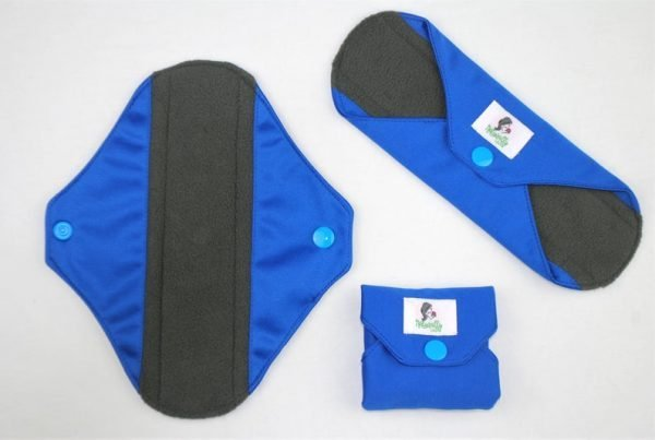 blue reusable sanitary towels