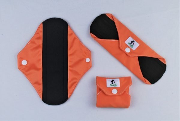 orange reusable sanitary towels