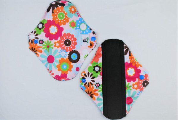 white print reusable sanitary pads