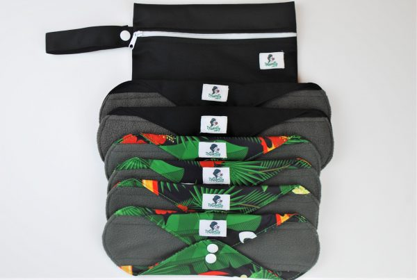 Reusable sanitary pads green pad