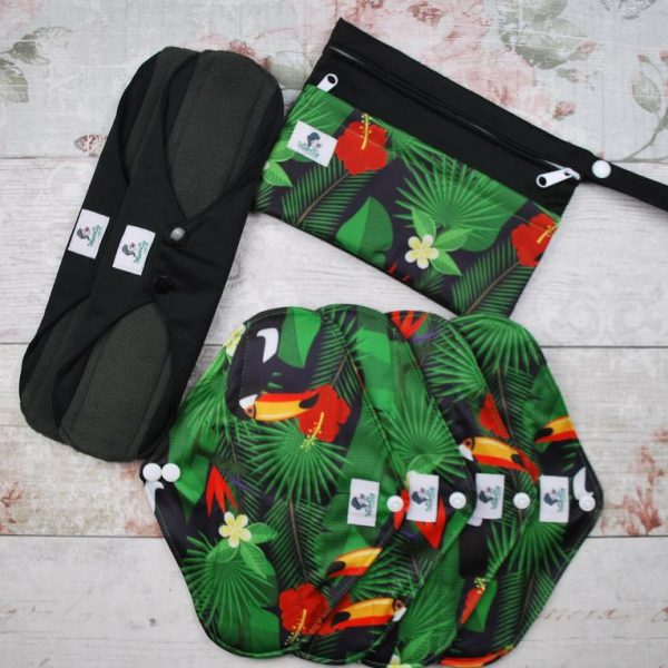 Reusable Sanitary Pads Green