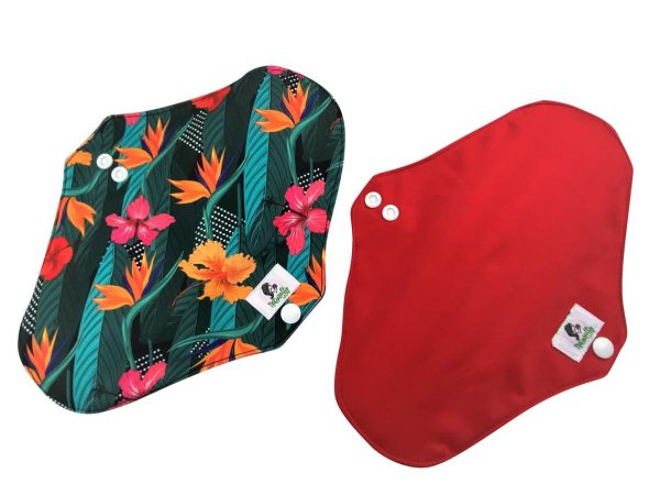 reusable sanitary pads green and red
