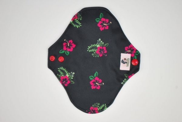 reusable sanitary towels black zorb