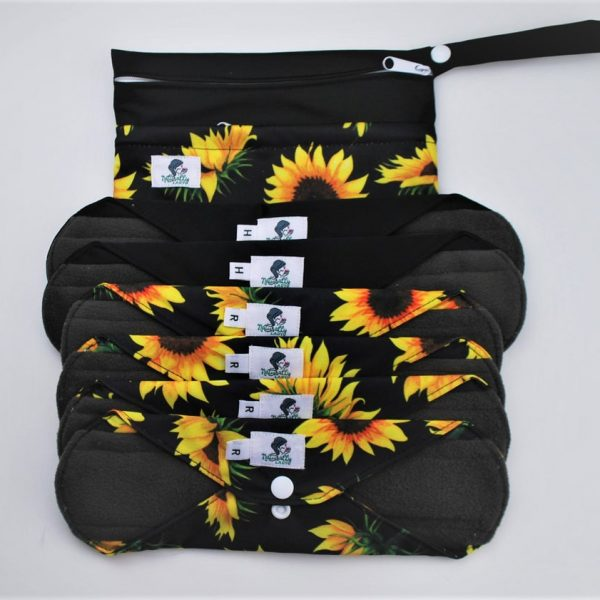Sunflower reusable sanitary pads